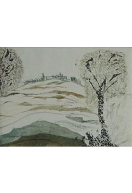 """Radierung """"Landschaft"""" 146x107cm"""